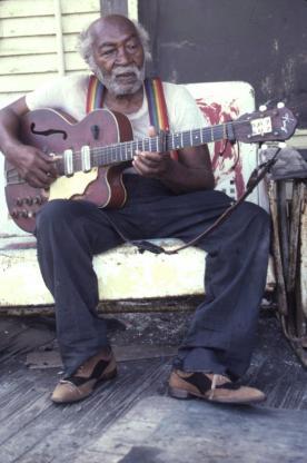 Henry Speller on porch