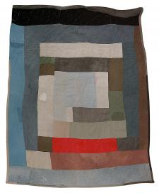 Loretta Pettway - Two-sided work-clothes quilt: Bars and blocks (1) - Master Image