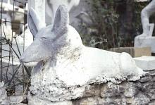 Eldren M. Bailey, guardian dog sculpture