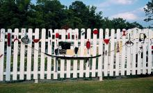 Fence in James Arnold's yard