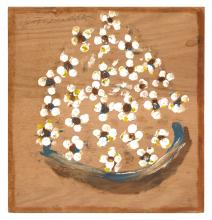 Jimmy Lee Sudduth, Dogwoods Piled Up in a Bowl, mid-1980s