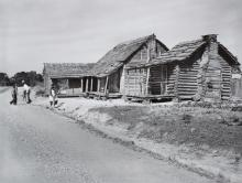 Gee's Bend cabins in 1937