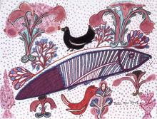 Nellie Mae Rowe, Fish, 1980